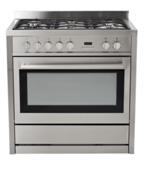 INSTALLED - Eurotech Freestanding 90cm Fan Forced Electric Cooker with Gas Hob - EUR-FSG90