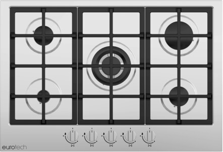 INSTALLED - Eurotech Gas 75cm Cooktop - EDG-705 IX