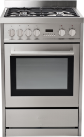 INSTALLED - Eurotech Freestanding 60cm Fan Forced Electric Cooker with Gas Hob - EUR-FSGE60